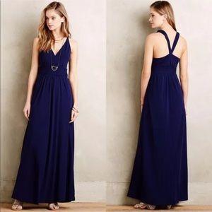 Maeve Anthropologie Blue Yuma Maxi Dress c11